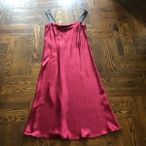 Burgundy Satin Night Gown Pre Loved Size Large.